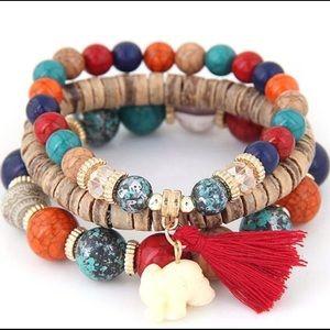 Jewelry - Multicolor Tassel Charm Bracelet